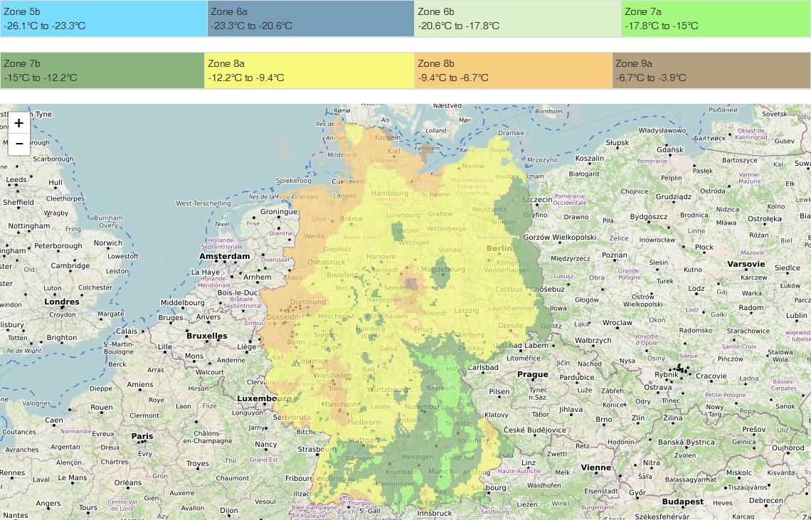 Duitsland-Hardiness-map